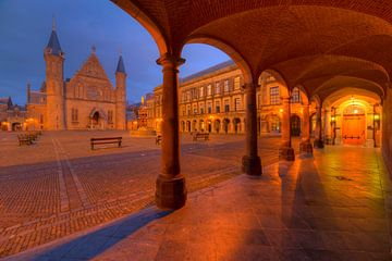 Binnenhof en Ridderzaal Den Haag in de Nacht van Rob Kints