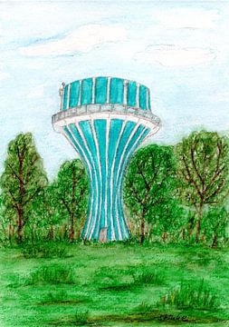 Watertoren in Flensburg van Sandra Steinke