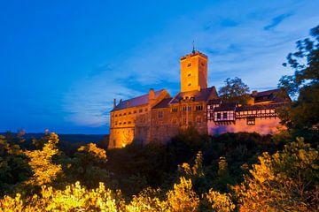Le château de la Wartburg près d'Eisenach en soirée sur Werner Dieterich