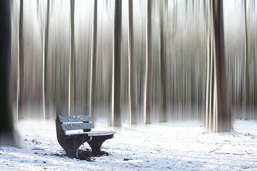 Winters bankje