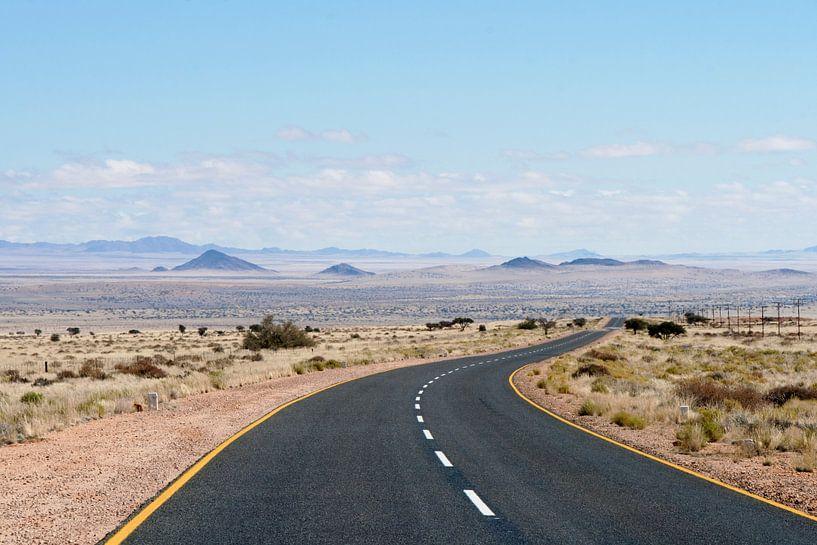 Endless road Namibië van Gijs de Kruijf