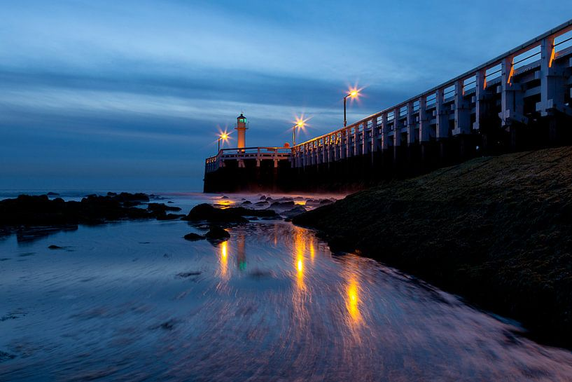 de pier in Nieuwpoort (Belgie) van Krist Hooghe