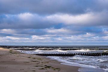 Buhnen an der Küste der Ostsee auf dem Fischland-Darß von Rico Ködder