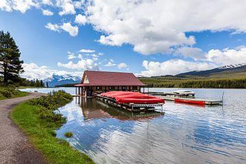Maligne Lake, Jasper NP van