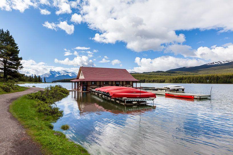 Maligne Lake, Jasper NP van Bart van Dinten