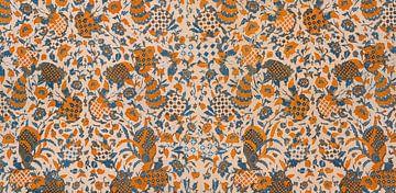 Vintage Batik Sarong uit Java - Schoongesneden van Floris Kok