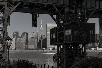 Alte Hafenanlage in New York van