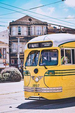 Historische Straßenbahn in San Francisco, Amerika von Daphne Groeneveld