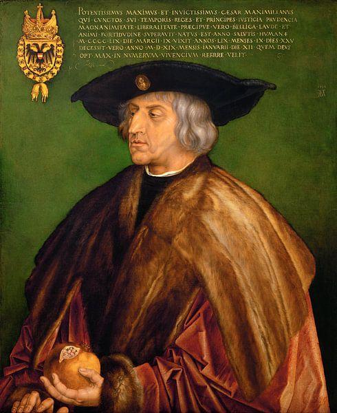 Albrecht Dürer.Porträt von Maximilian I. von 1000 Schilderijen