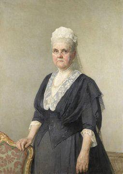 Königin Emma, Witwe von König Wilhelm III., Jan Veth