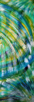 Farbenspiel blau-gelb-weiß-grün van Babetts Bildergalerie