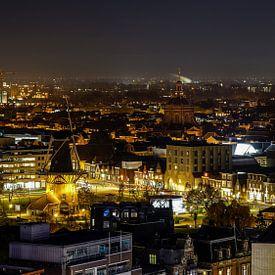 Leiden bij nacht van Dirk van Egmond