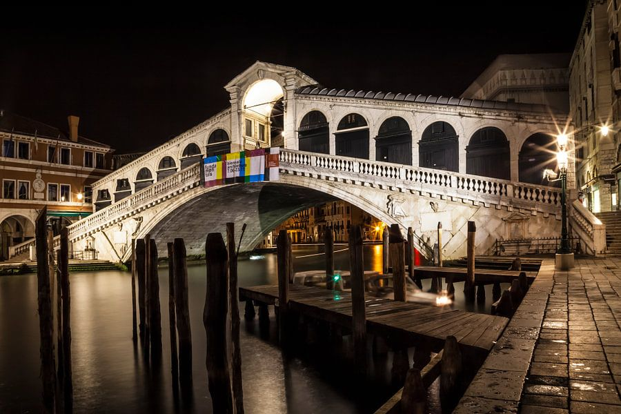 VENICE Rialto Bridge at Night II
