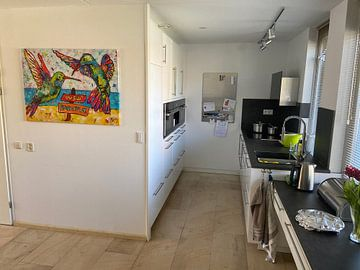 Photo de nos clients: Colibris sur la plage sur Happy Paintings