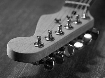 Stemknoppen van elektrische gitaar close-up van Robin Jongerden