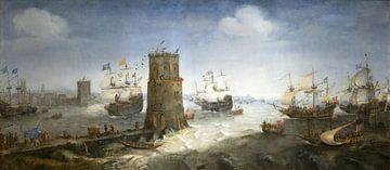 Die Gefangennahme von Damiate, Cornelis Claesz van Wieringen