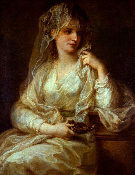 Bildnis einer Dame als Vestalin, Angelika Kauffmann von Meesterlijcke Meesters