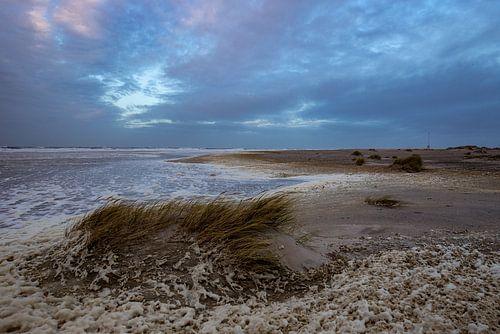 Storm aan de kust van