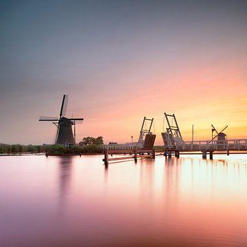 Sonnenuntergang bei Kinderdijk von Rene Siebring