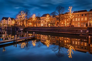 Blue hour haven Gorinchem van Silvia Thiel