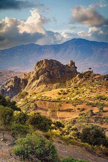 Indrukwekkend landschap, Rifgebergte, Marokko