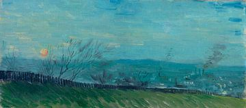 Vincent van Gogh, Sonnenuntergang bei Montmartre