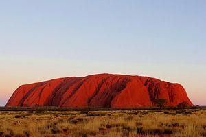 Uluru Ayers Rock in vuur en vlam, Australie