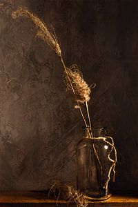 Stilleven van rietpluimen van Arend Wiersma