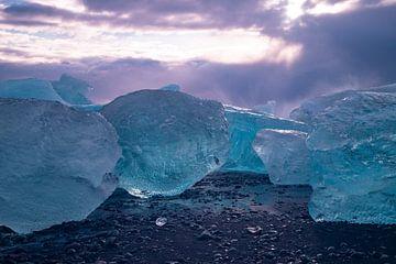 Diamantstrand bei Jökulsárlón, Island. von Gert Hilbink