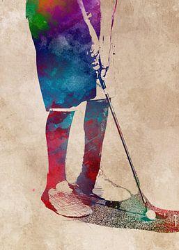 Golfspeler 7 sport #golf #sport van JBJart Justyna Jaszke