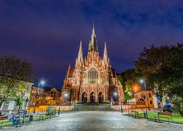 De Sint Joseph Kerk in Krakau Polen von Lex van Doorn