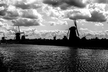 Windmolens aan de Kinderdijk