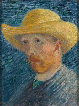 Selbstbildnis mit Strohhut, Vincent van Gogh