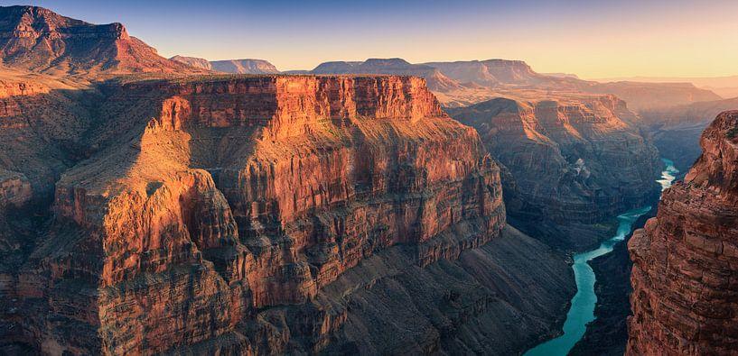 Zonsondergang Toroweap, Grand Canyon N.P North Rim van Henk Meijer Photography