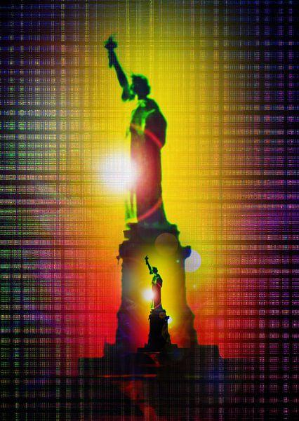 Vrijheidsbeeld - New York van Walter Zettl