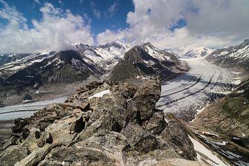 Aletsch Gletsjer - Wallis - Zwitserland van Felina Photography
