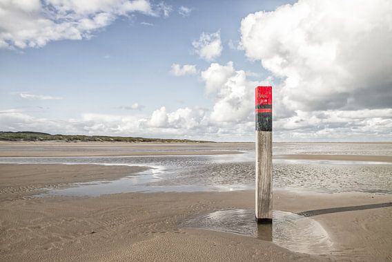 Strandpaal op Texel / Texel beach
