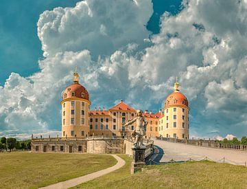 Schloss Moritzburg, Moritzburg, Saksen, Duitsland van Rene van der Meer