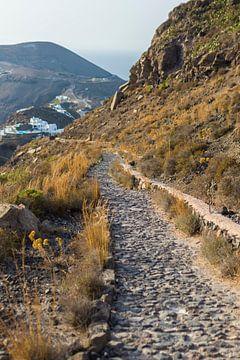 Bergpad van Santorini van