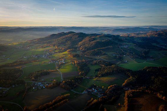 Dromerig landschap met wolken in Beieren