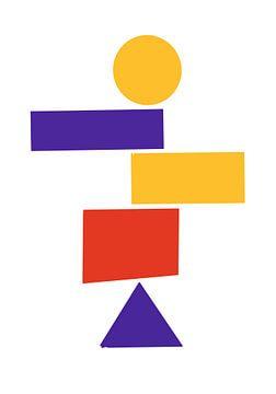 Formes géométriques empilées du Bauhaus sur Raymond Wijngaard