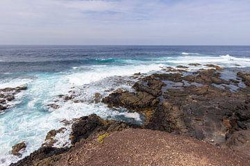 Kustgedeelte in het natuurpark van Jandia (Parque Natural De Jandina) op het Canarische eiland Fuert van Reiner Conrad