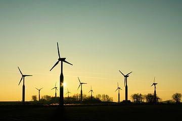 Groep windturbines van Harry Wedzinga