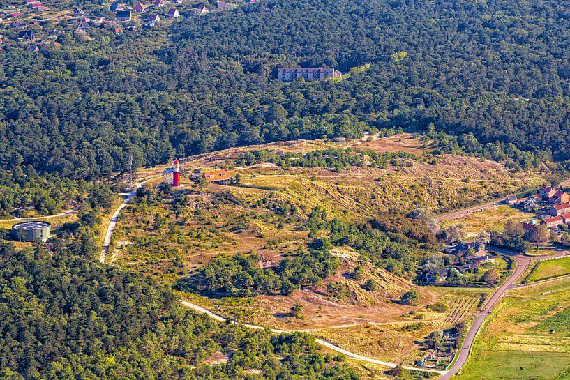 Vuurboetsduin, bos en huisjes Vlieland van Roel Ovinge