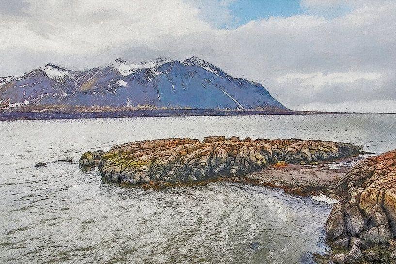 Borgarfjörður, Islande sur Frans Blok