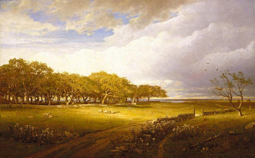 Alter Obstgarten in Newport, William Trost Richards von Meesterlijcke Meesters