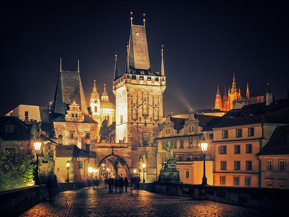 Prague at Night - Charles Bridge