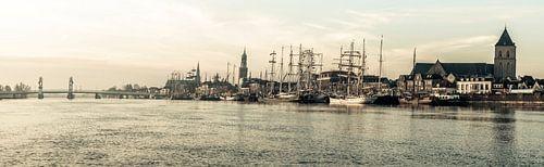 Zicht op Kampen tijdens zonsopkomst van Sjoerd van der Wal