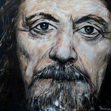 Porträt von Robert Plant von Therese Brals