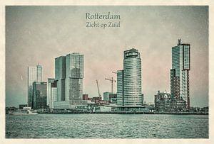 Oude ansichten: Rotterdam, zicht op Zuid van